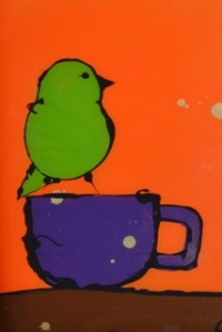 bird in cup
