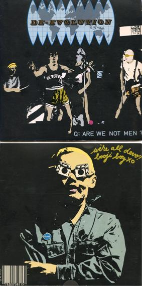 front and back covers of Devos first record
